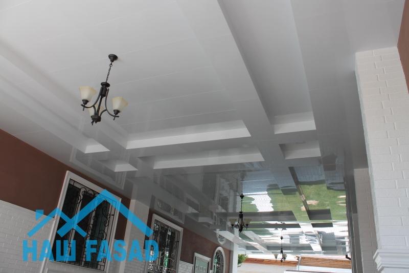 Монтаж потолков из Алюкобонда